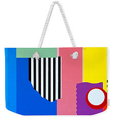 Weekender Tote Bag featuring the painting Mid Century Compromise by Thomas Gronowski