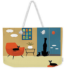 Mid Century Dogs And Cats Weekender Tote Bag