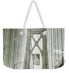 Mid Hudson Suspension Bridge Weekender Tote Bag