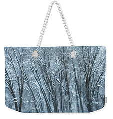 Mid-winter Storm Weekender Tote Bag by Jonathan Nguyen