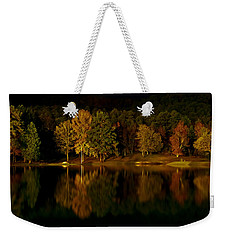 Midnight On The Lake Weekender Tote Bag by Linda Unger