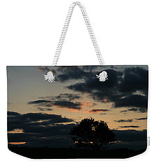 Weekender Tote Bag featuring the photograph Farm Pasture Midnight Sun  by Neal Eslinger
