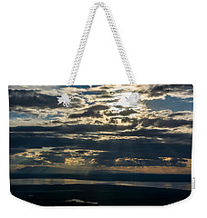 Midnight Sun Over Mount Susitna Weekender Tote Bag