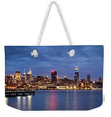 Midtown Manhattan Weekender Tote Bag by Mihai Andritoiu