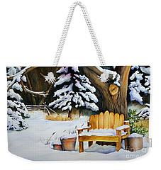 Midwest Winter Weekender Tote Bag