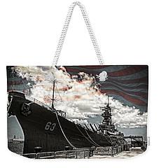 Mighty Mo U.s.s. Missouri Weekender Tote Bag