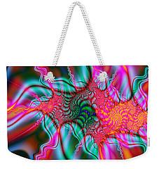 Weekender Tote Bag featuring the digital art Migraine by Elizabeth McTaggart