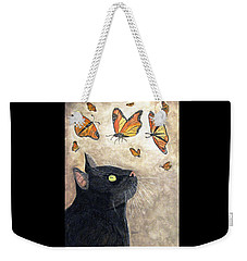 Weekender Tote Bag featuring the painting Migration by Angela Davies