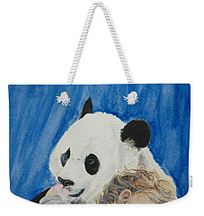 Mika And Panda Weekender Tote Bag by Tamir Barkan