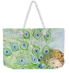 Mika And Peacock Weekender Tote Bag