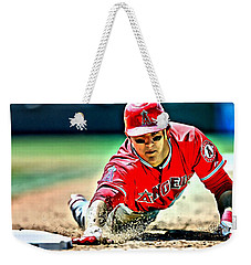 Mike Trout Painting Weekender Tote Bag