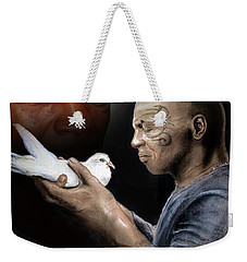 Mike Tyson And Pigeon II Weekender Tote Bag