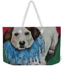 Mikey Weekender Tote Bag by Jeanne Fischer