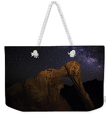 Weekender Tote Bag featuring the photograph Milky Way Over The Elephant 2 by James Sage