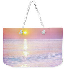 Weekender Tote Bag featuring the photograph Milky Sunset by Lilia D