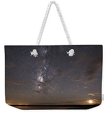 Milky Way And Moon Reflecting Weekender Tote Bag