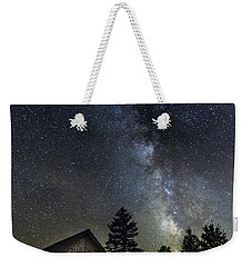 Milky Way Over Foster Covered Bridge Weekender Tote Bag by John Vose