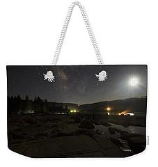 Milky-way Over Plasse's Resort - Silver Lake Weekender Tote Bag