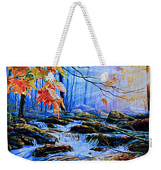 Mill Creek Autumn Sunrise Weekender Tote Bag