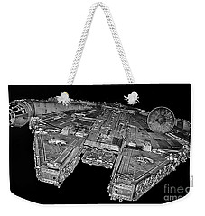 Millennium Falcon Weekender Tote Bag by Kevin Fortier