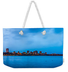 Weekender Tote Bag featuring the photograph Milwaukee Skyline - Version 2 by Steven Santamour