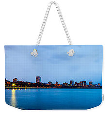 Weekender Tote Bag featuring the photograph Milwaukee Skyline - Version 1 by Steven Santamour
