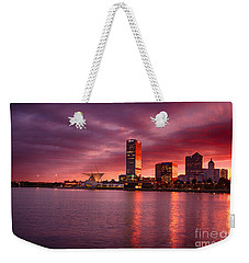 Milwaukee Sunset Weekender Tote Bag