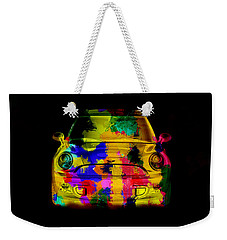 Mini Cooper Colorful Abstract On Black Weekender Tote Bag