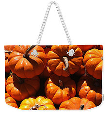 Weekender Tote Bag featuring the photograph Mini Fall Pumpkins by Denyse Duhaime
