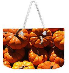 Mini Fall Pumpkins Weekender Tote Bag by Denyse Duhaime