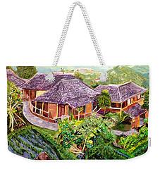 Weekender Tote Bag featuring the painting Mini Paradise by Belinda Low