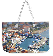 Weekender Tote Bag featuring the photograph Miniature Port by Vicki Spindler