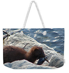 Mink With A Round Goby Weekender Tote Bag by Randy J Heath