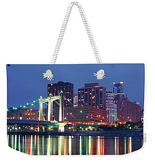 Minneapolis Skyline At Night Weekender Tote Bag