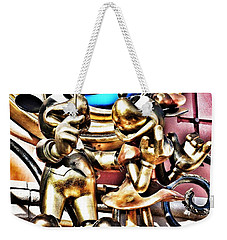 Minnie And Mickey Mouse - Disneyland Paris  Tinkerbell Castle Weekender Tote Bag
