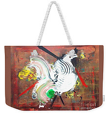 Weekender Tote Bag featuring the painting Minority Species by Roberto Prusso
