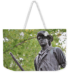 Minute Man Statue In Spring Weekender Tote Bag