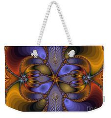 Mirror Butterfly Weekender Tote Bag
