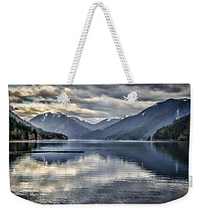 Mirror Image Weekender Tote Bag by Heather Applegate