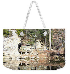 Weekender Tote Bag featuring the photograph Sugar Creek Mirror by Pamela Clements