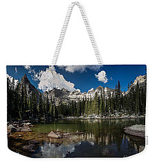 Weekender Tote Bag featuring the photograph Mirror Lake by Steven Reed