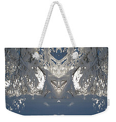 Weekender Tote Bag featuring the photograph Mirror Of Snow  by Cindy Greenstein