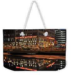 Weekender Tote Bag featuring the photograph Mirror Reflection by Deborah Klubertanz