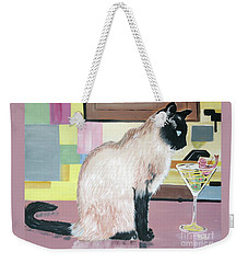 Miss Kitty And Her Treat Weekender Tote Bag