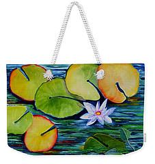 Whimsical Waterlily Weekender Tote Bag