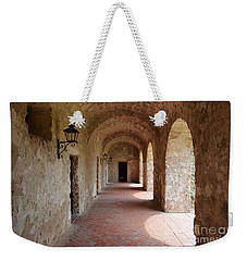 Mission Concepcion Promenade Walkway In San Antonio Missions National Historical Park Texas Weekender Tote Bag