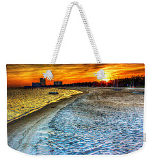 Beach - Coastal - Sunset - Mississippi Gold Weekender Tote Bag