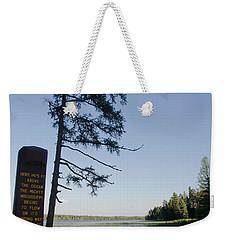 Mississippi Headwaters Weekender Tote Bag