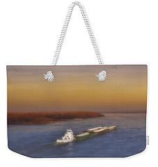 Mississippi Sunset Weekender Tote Bag