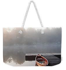 Mist Floating Over The Lake Weekender Tote Bag